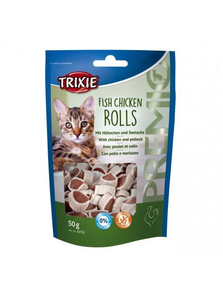 Лакомство для кошек Trixie PREMIO Rolls 50 г (курица и рыба)