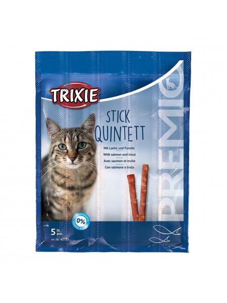 Лакомство для кошек Trixie PREMIO Quadro-Sticks 5 шт. (лосось и форель)
