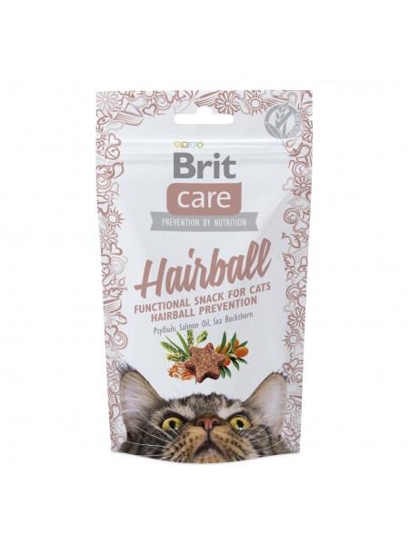 Лакомство для кошек Brit Care Functional Snack Hairball 50 г (для выведения шерсти)