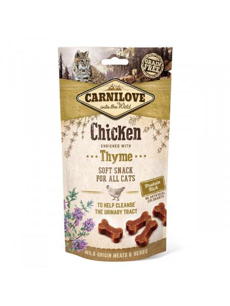 Лакомство для кошек Carnilove Chicken with Thyme 50 г (для поддержания мочевыделительной системы)