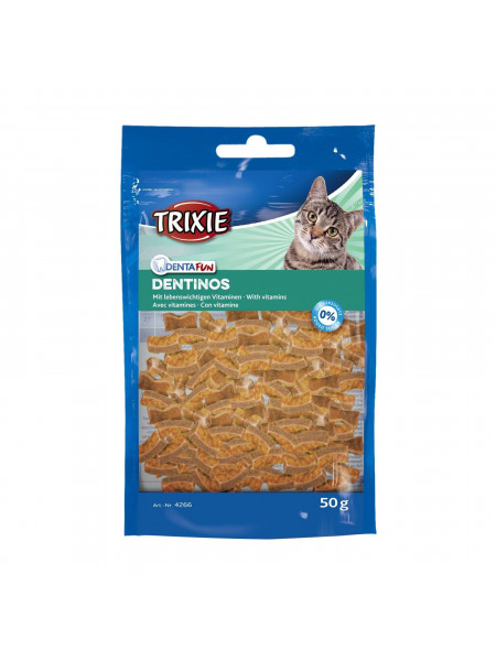 Лакомство для кошек Trixie «Denta Fun Dentinos» 50 г (для зубов)