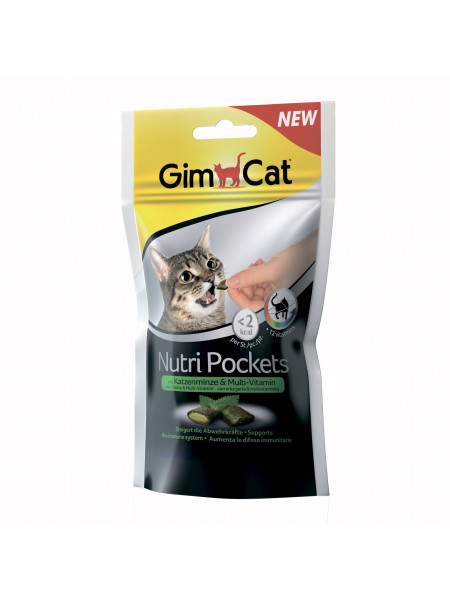 Витаминные лакомства для кошек GimCat Nutri Pockets Кошачья мята+Мультивитамин 60 г