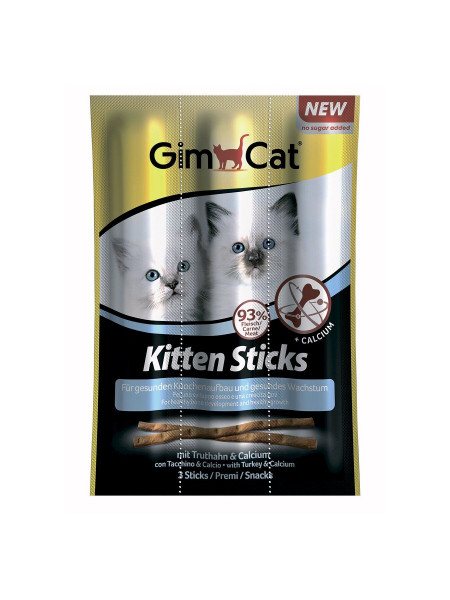 Лакомство для котят GimCat Kitten Sticks 3 шт. (индейка)