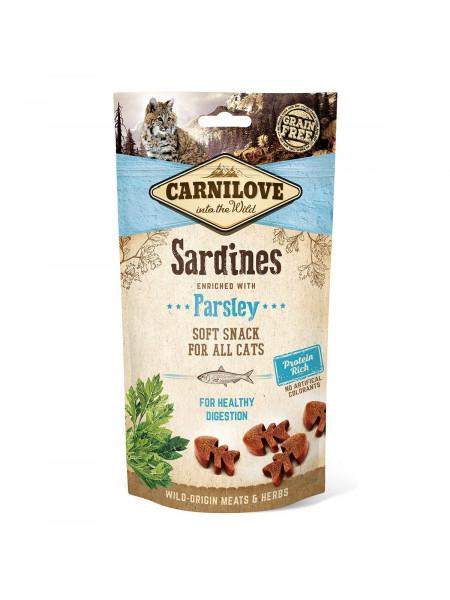 Лакомство для кошек Carnilove Sardine with Parsley 50 г (для чувствительного пищеварения)