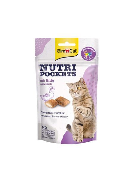 Витаминные лакомства для кошек GimCat Nutri Pockets Утка+Мультивитамин 60 г