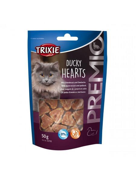 Лакомство для кошек Trixie PREMIO Hearts 50 г (утка и рыба)