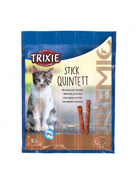 Лакомство для кошек Trixie PREMIO Quadro-Sticks 5 шт. (ягненок и индейка)