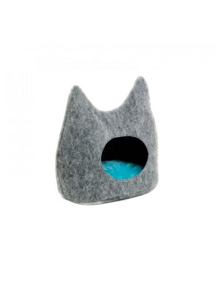 Дом-Лежак Pet Fashion «Dream» 44 х 28 х 45 см (серый)