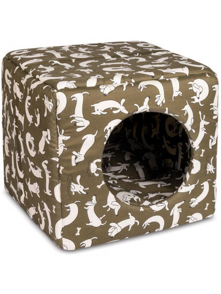 Домик Природа «Cube» 40 см / 40 см / 37 см (коричневый) - cts