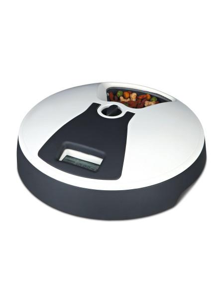 Автоматическая кормушка Trixie «TX6» 6 x 240 мл / d=32 см / h=10 см (чёрно-белая)