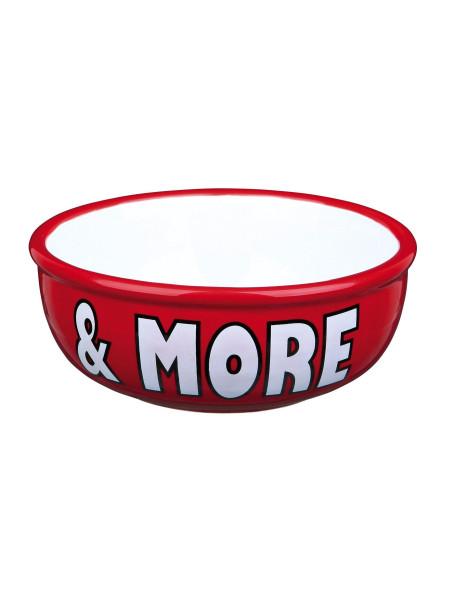 Миска керамическая Trixie «Milk & More» 400 мл / 13 см (красная, синяя, кремовая)