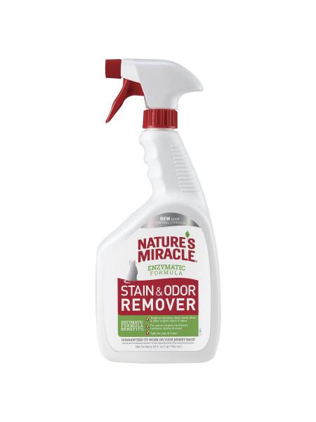 Спрей-Устранитель Nature's Miracle «Stain & Odor Remover» для удаления пятен и запахов от кошек 946 мл