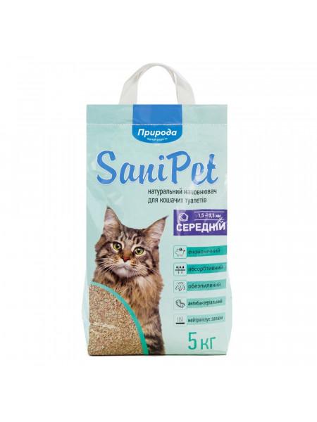 Наполнитель туалета для кошек Природа Sani Pet 5 кг (бентонитовый средний) - PR240781