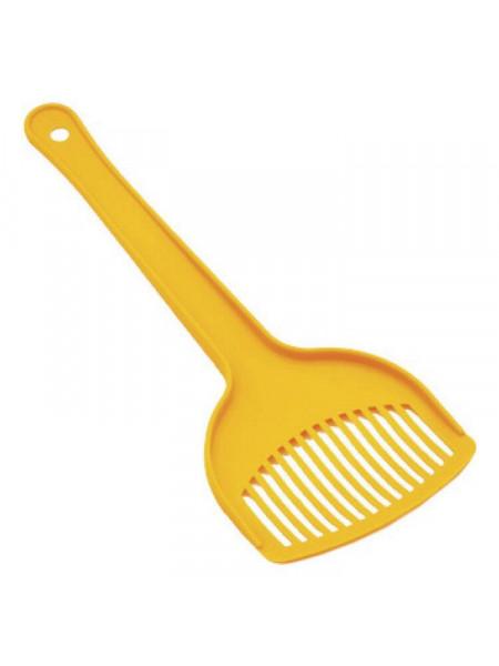 Лопатка с отверстиями Природа для гигиенического наполнителя «№1» (пластик, цвета в ассортименте)