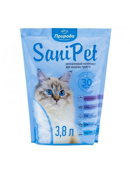Наполнитель туалета для кошек Природа Sani Pet 3,8 л (силикагелевый)