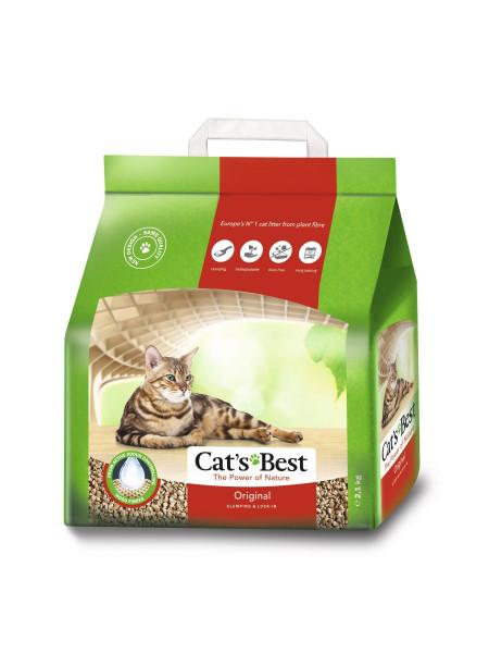 Наполнитель туалета для кошек Cat's Best «Original» 5 л / 2.1 кг (древесный)