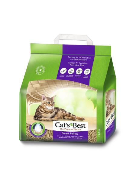 Наполнитель туалета для кошек Cat's Best «Smart Pellets» 5 л / 2.5 кг (древесный)