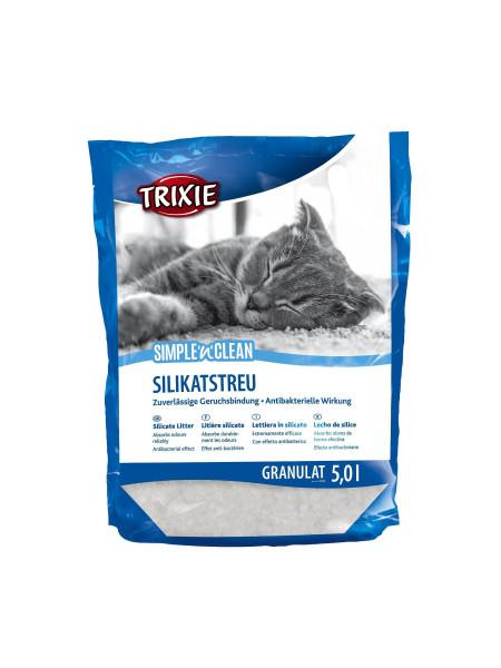 Наполнитель туалета для кошек Trixie Simple & Clean 5 л (силикагелевый)