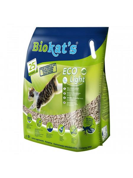 Наполнитель туалета для кошек Biokat's Eco Light 5 л (тофу)