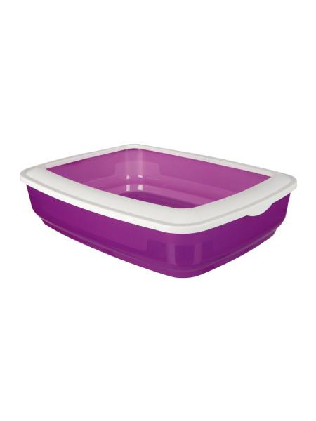 Туалет для кошек Trixie с бортиком «Brisko» 38 x 11 x 50 см (пластик, цвета в ассортименте)