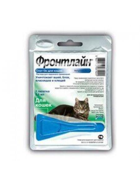 Капли на холку для кошек Merial «Frontline» (Фронтлайн) от 2 кг, 1 пипетка (от внешних паразитов)