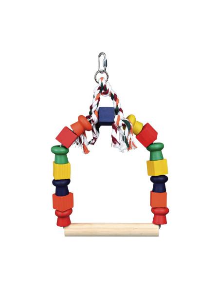 Игрушка для птиц Trixie Качели разноцветные 20 x 29 см (дерево)