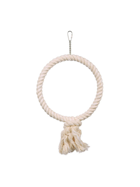 Игрушка для птиц Trixie Кольцо плетёное d=25 см (текстиль)