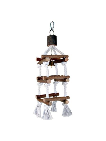 Игрушка для птиц Trixie Лесенка верёвочная «Natural Living» 34 см (натуральные материалы)