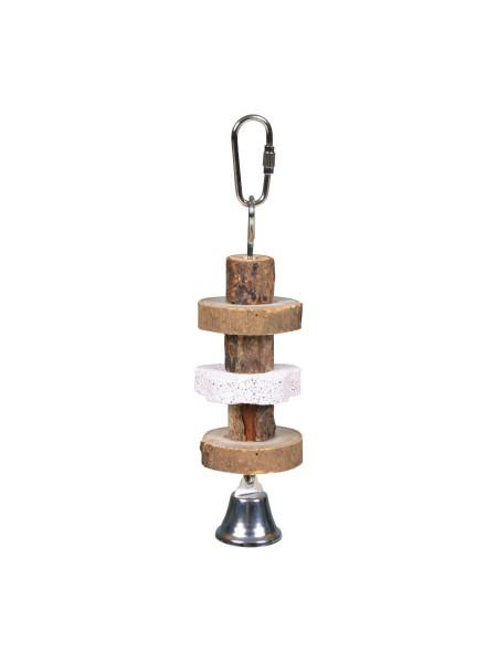 Игрушка для птиц Trixie подвесная с вулканическим камнем «Natural Living» 16 см (натуральные материалы)