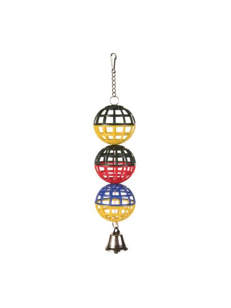 Игрушка для птиц Trixie Шарики 16 см (пластик)