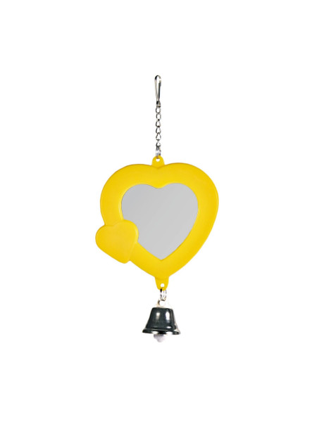 Игрушка для птиц Trixie Зеркало «Сердце» 7 см (пластик, цвета в ассортименте)
