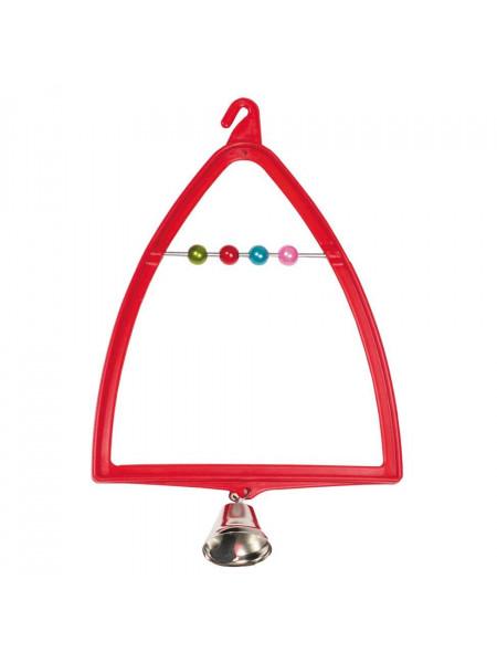 Игрушка для птиц Природа Качели-арка с колокольчиком 12 x 19 см (пластик)