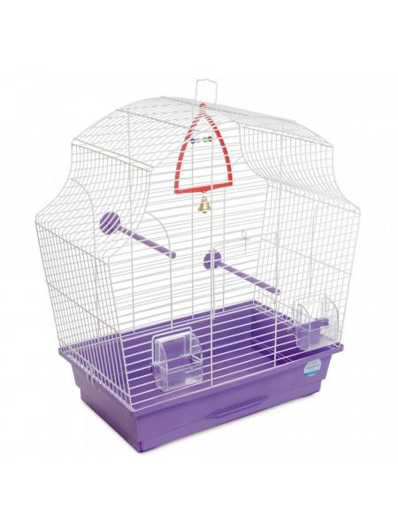 Клетка для птиц Природа «Мери» 44 x 27 x 54 см (фиолетовая)