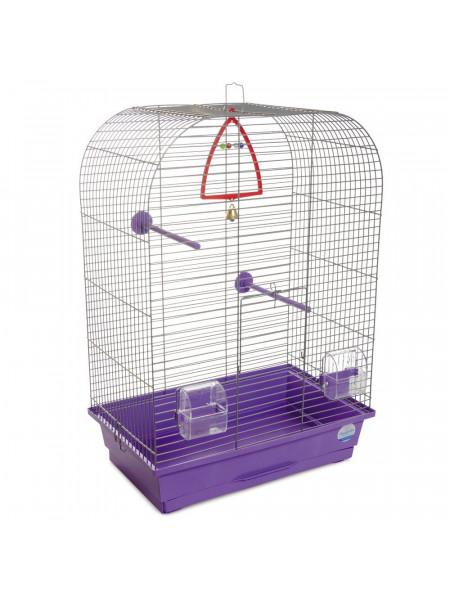 Клетка для птиц Природа «Аурика» 44 x 27 x 64 см (фиолетовая)