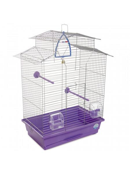 Клетка для птиц Природа «Изабель 2» 44 x 27 x 65 см (фиолетовая)