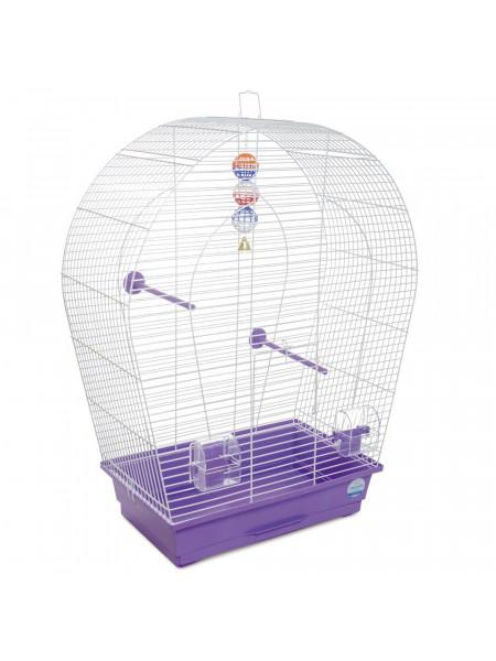 Клетка для птиц Природа «Арка большая» 44 x 27 x 75 см (фиолетовая)