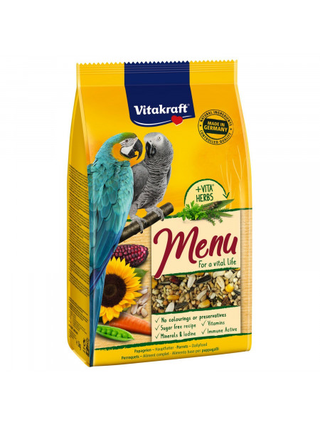 Корм для крупных попугаев Vitakraft «Premium Menu» 3 кг