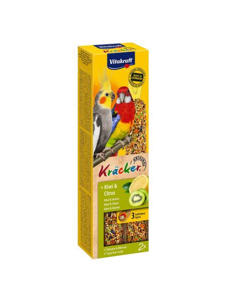 Лакомство для средних попугаев Vitakraft «Kracker Original + Kiwi & Citrus» 180 г / 2 шт. (киви и лимон)
