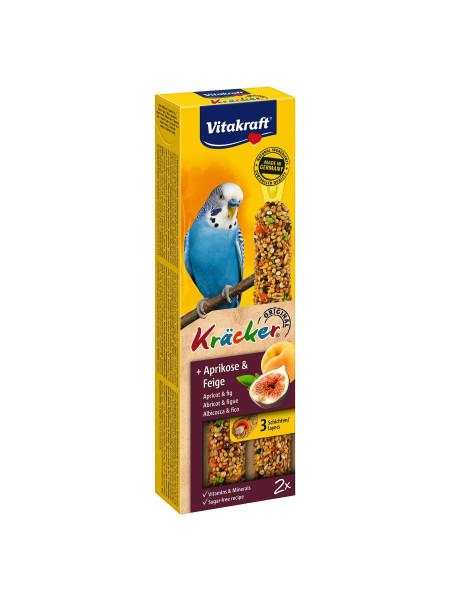 Лакомство для волнистых попугаев Vitakraft «Kracker Original + Apricot & Fig» 60 г / 2 шт. (абрикос и рис)