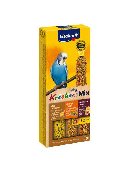 Лакомство для волнистых попугаев Vitakraft «Kracker Original Trio-Mix» 90 г / 3 шт. (ассорти) - 21231