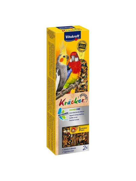 Лакомство для средних попугаев Vitakraft «Kracker Original Feather Care» 180 г / 2 шт. (при линьке)