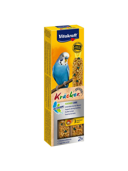 Лакомство для волнистых попугаев Vitakraft «Kracker Original Feather Care» 60 г / 2 шт. (при линьке)