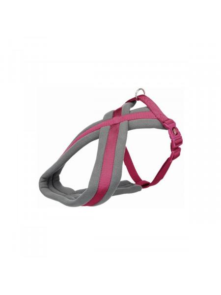 Шлея Trixie нейлоновая «Premium» туристическая, M–L: 50–80 см / 25 мм (ярко-розовая)