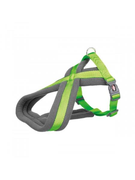 Шлея Trixie нейлоновая «Premium» туристическая, M: 45–70 см / 25 мм (ярко-зелёная)