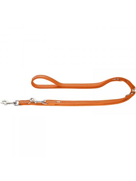 Тренировочный поводок Hunter кожаный «Training leash Cannes» 2 м / 15 мм (оранжевый)
