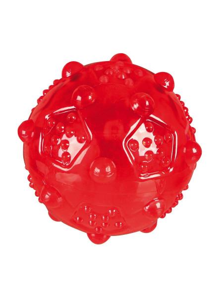 Игрушка для собак Trixie Мяч игольчатый с пищалкой d=7 см (термопластичная резина, цвета в ассортименте)