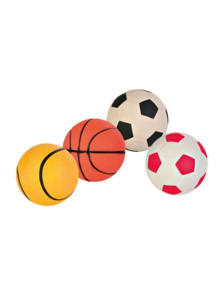 Игрушка для собак Trixie Мяч d=7 см (вспененная резина, цвета в ассортименте) - 3442