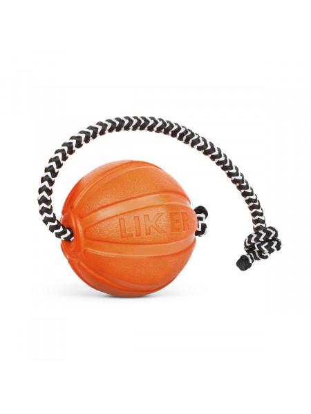 Игрушка для собак Collar Мяч со шнуром «Liker Cord 5» (Лайкер Корд) 30 см, d=5 см (вспененный полимер)