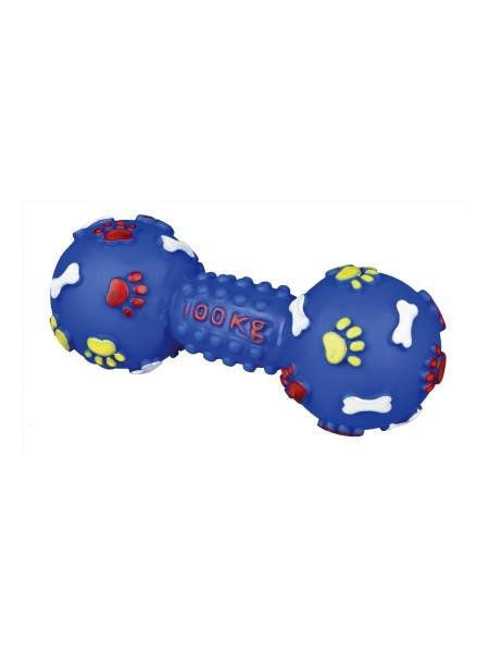 Игрушка для собак Trixie Гантель с пищалкой 15 см (винил, цвета в ассортименте)