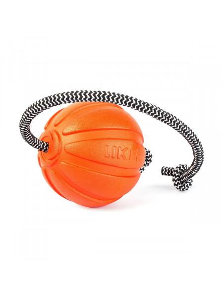 Игрушка для собак Collar Мяч со шнуром «Liker Cord 9» (Лайкер Корд) 30 см, d=9 см (вспененный полимер)